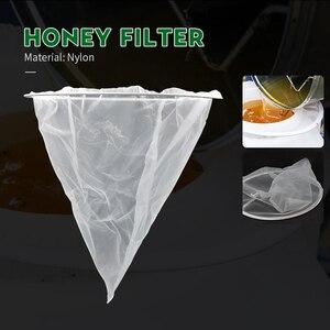 BEETOP 1PCS Mesh Nylon Cone-shape Honey Strainer Filter Fiber Net Single Layer White Beekeeping Tools Purifier Apiary Equipment(China)