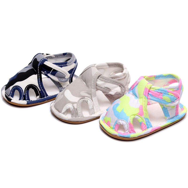 Camouflage Rubber Bottom Baby Shoes