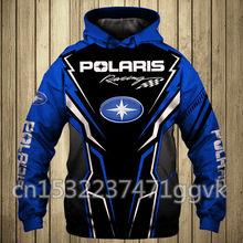 Hoodies masculinos polaris logotipo impresso outono streetwear moda de alta qualidade roupas masculinas pullovers brp can-am esporte casual