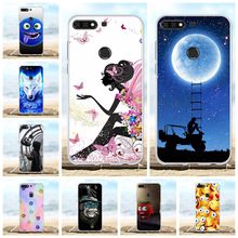 For Huawei Y7 Prime Pro 2018 Cover Soft TPU Honor 7C Case Flowers Patterned Enjoy 8 Nova 2 Lite Shell Bag