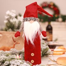 Christmas Decorations Champagne Embroidery Wine Bottle Set With Hands No Face Doll Wine Bottle Set R