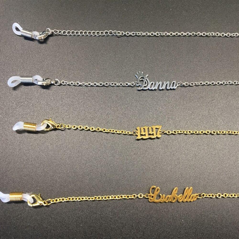 Sipuris пользовательское имя лет очки цепь держатель для солнцезащитных очков шнурки ремни шнурки очки ожерелье держатель очков аксессуары