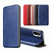 Leather Magnetic Flip Case For Xiaomi Redmi Note 10 Pro Silicone frame Phone Covers Redme Note10 10Pro Stand Wallet Book Coque