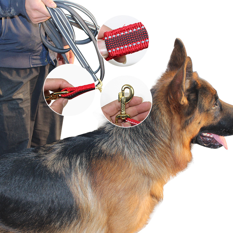 Reflective Anti-slip Nylon Tow Rope Fine Copper Accessories Pet Supplies Large And Small Dogs Dog Traction