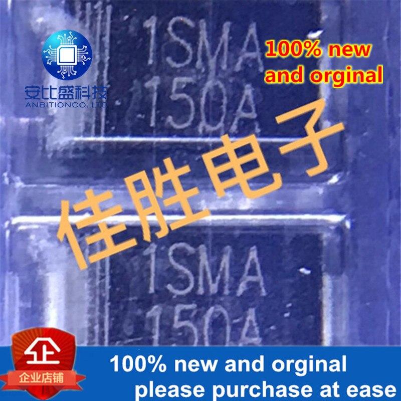 50pcs 100% New And Orginal 150V DO214AC Silk-screen 1SMA150AUnidirectional TVS SMD Diode  In Stock