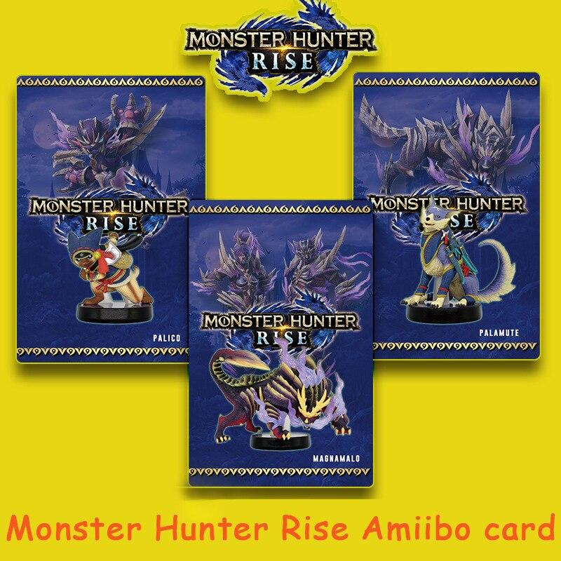 Предзаказ Monster Hunter Rise amiibo для переключателя Nintendo Palamute Palico Magnamalo для переключателя