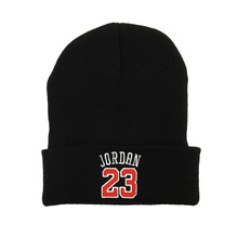 Embroidered Hat Top-Caps Kobe Bryant Women Beanie Jordan Knitted Warm Autumn Winter Fashion