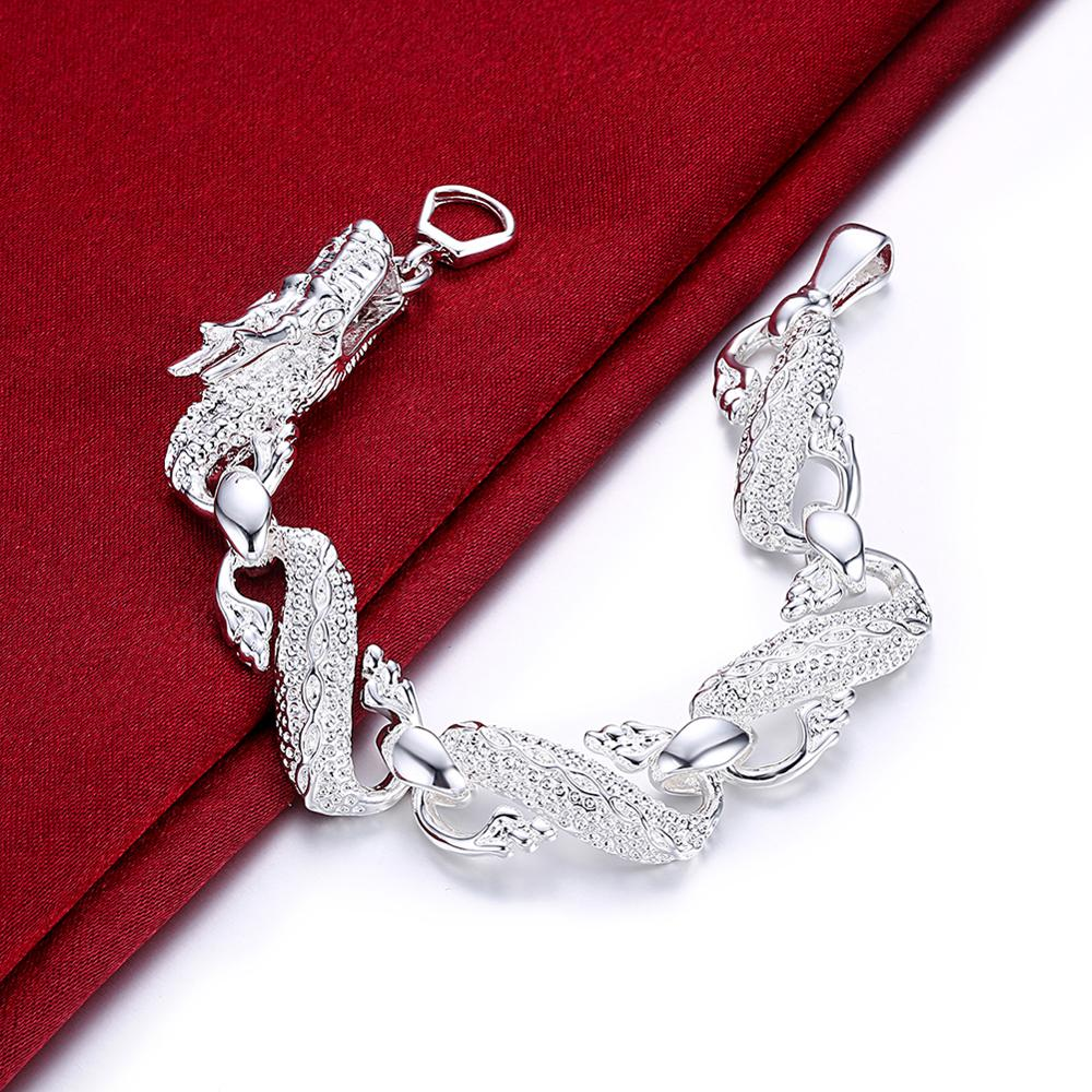 New Arrival 925 Silver Bracelet Bangle Cuff Men And Women Dragon Bracelet 925 Silver Fine Jewelry Party Christmas Gift