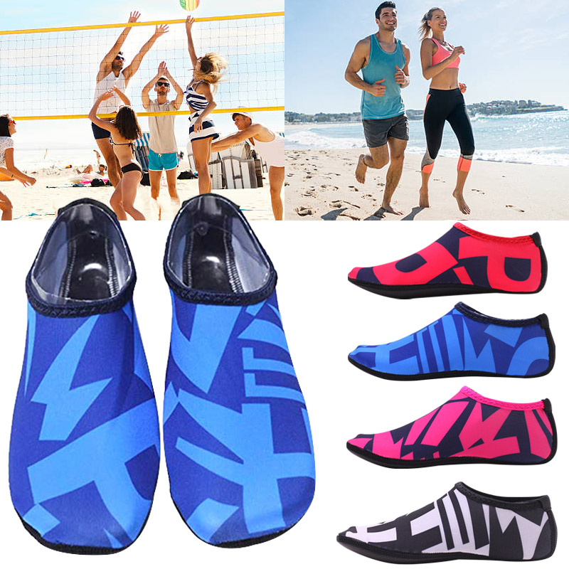 2019 New Beach Swimming Water Sport Socks Men Women Snorkeling Anti Slip Shoes Yoga Dance Surfing Diving Shoes Swimming Fins D40
