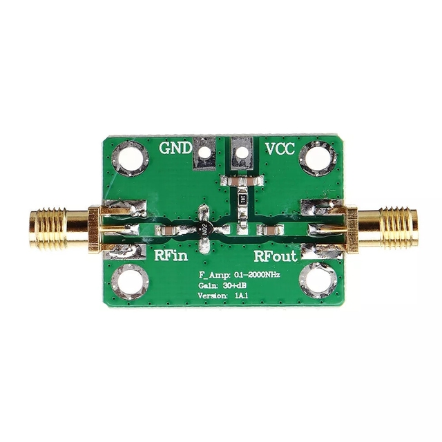 0.1 2000MHz RF Amplifier Wideband High Gain 30dB Low Noise Amplifier LNA Broadband Module Receiver