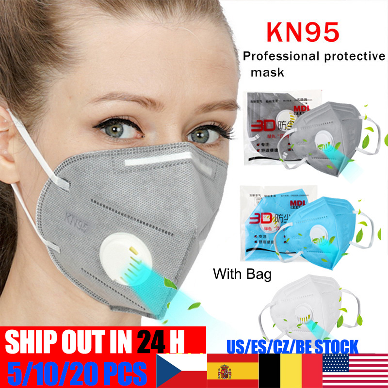 KN95 Mouth Masks For Germ Protection 3-Ply  Anti-Dust  Same As N95 FFP3 KF94 Nonwoven Elastic Earloop Mouth Face Masks Ffp2