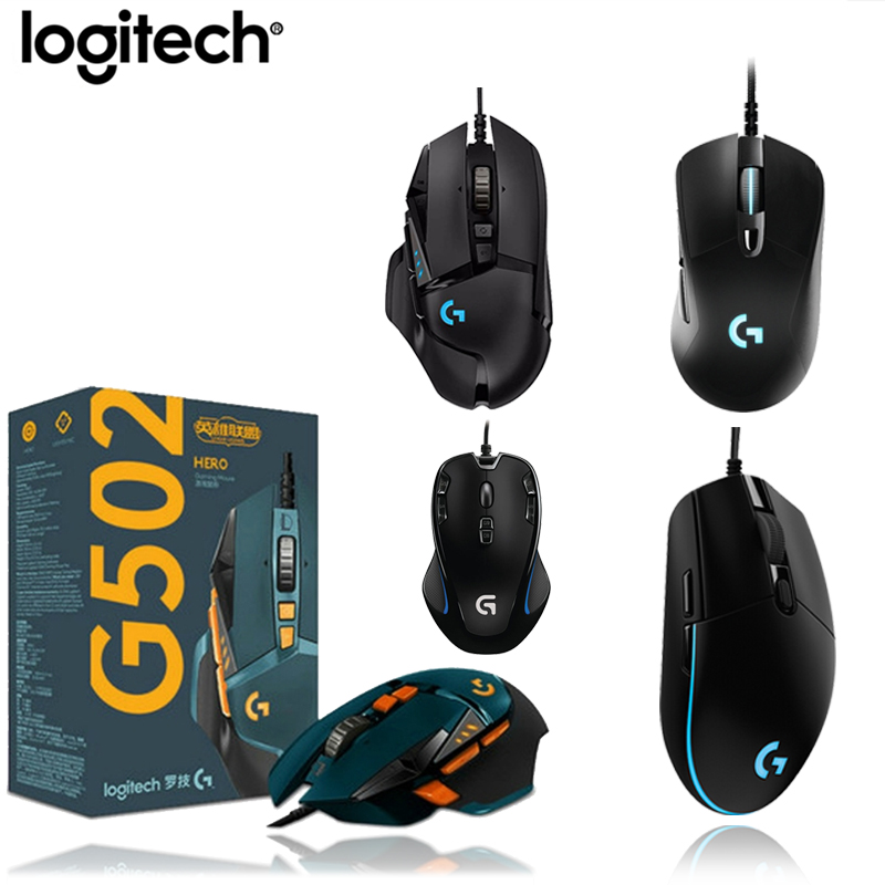 Logitech G403/G502/MX518/G402/G302/G102/G300s Wired Gaming Mouse Programmable RGB Gamer Mouse For LOL PUBG Fortnite Overwatch CS image