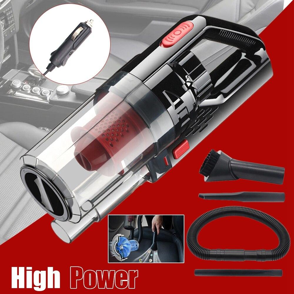 Leve portátil dc 12 v com fio carro aspirador de pó, 150 w 6000 pa forte potência sucção alimentado por tomada, molhado/seco handheld automóvel v