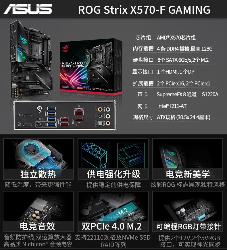 China Computador X570 Motherboard R7 3700x 3800x R9 3900x