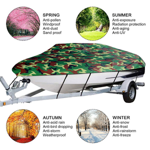 Image 5 - Boat Cover All weather Protection Full Covers with Adjustable Strip and Buckle Camouflage Style Yacht Outdoor Protection Cover
