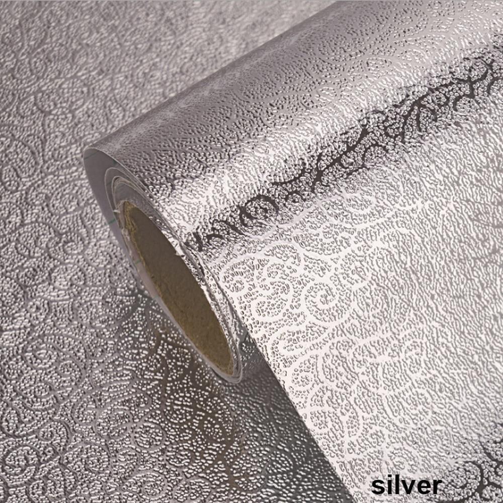 100cm Self Adhesive Waterproof Oil-proof Aluminum Foil Kitchen Wall Sticker 40