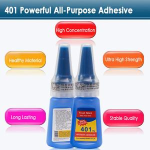 401 Multi-Purpose Super Glue Instant Adhesive Bottle Colorless Super Glue DIY Craft Adhesive Office Supplies Tackiness Agent