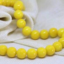 Высококачественные круглые бусины лимонно желтого цвета 3 14
