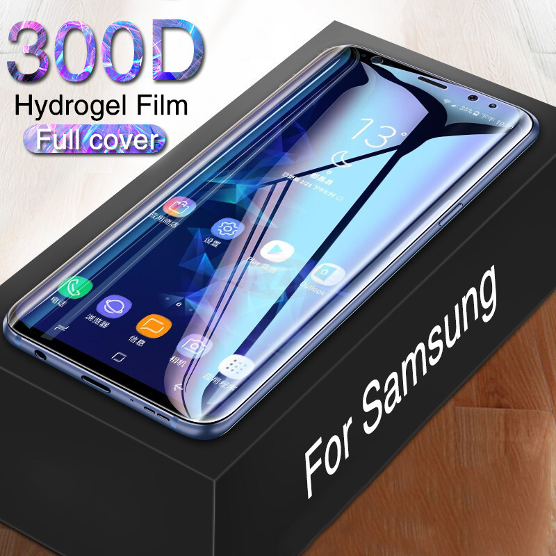 300D Screen Protector Hydrogel Film For Samsung S8 S9 Plus Note 8 9 Protective Film A50 A10 A20 A30 A70 M20 M30 Film Not Glass