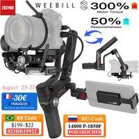 Zhiyun Weebill S DSLR del cardán estabilizador para DSLR y cámara sin espejo de Sony A7M3 A7III A7R3 Nikon Z6 Z7 Panasonic GH5 GH5s Canon