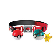 Pokemon Figure Toys Pokeball With Belt Action Figure Model Toys Retractable Belt Gifts For Children Kids Baby No Box(China)