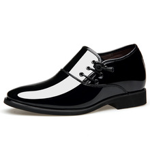 цены WHOHOLL Men's pointed Toe Oxfords shoes Genuine Leather Dress Shoes Brown Black Hand-Painted Formal Man Wedding Shoes