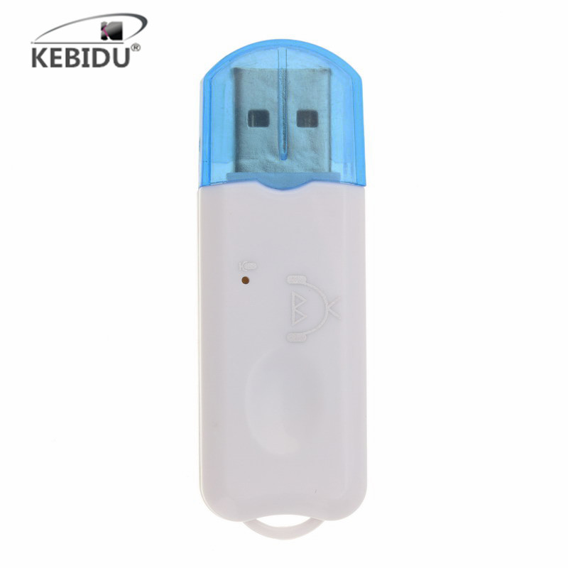 Kebidu Hot USB Bluetooth Stereo Music Receiver Wireless Audio Adapter Dongle Kit Built In Microphone For Speaker For Phone Car(China)