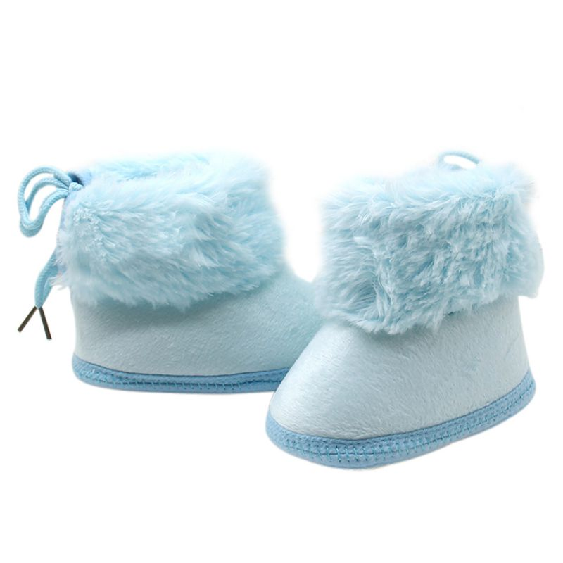 Hilittlekids New Fashion Baby Girl Winter Warm Shoes Booties Soft Soled Keep Warm Toddler Girls Boys Crib Bebe Shoes Booties