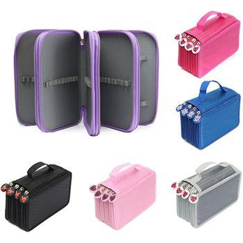 Multilayer High Capacity Pen Pencil Case Box Stationary School Supplies Makeup Storage Bag