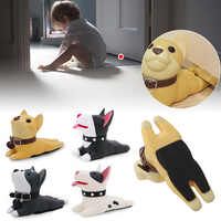 4 Colors Door Stops Cartoon Creative Silicone Door Stopper Holder Safety Toys For Children Baby Home Furniture Hardware