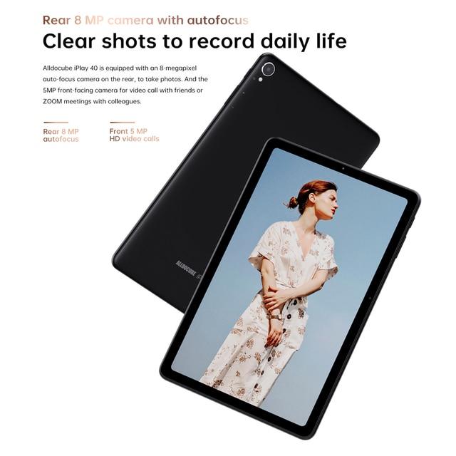 ALLDOCUBE iPlay 40 Tablet 10.4 Inch 8GB Ram 128GB Rom Tablet Android 10.0 Dual Sim Cards 2000*1200 IPS Unisoc T618 6000mAh BT5.0 5