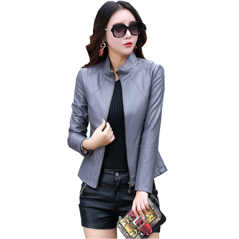 Luxury Genuine Leather Suede Coat Jacket Spring Autumn Women Slim Moto Outerwear Coats Garment Plus Size LF9152
