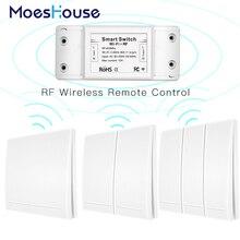 Rf 無線 Lan ワイヤレスリモコンスマートスイッチ壁パネルトランスミッタスマートライフ/チュウヤアプリ、 alexa Google ホーム 433Mhz で動作