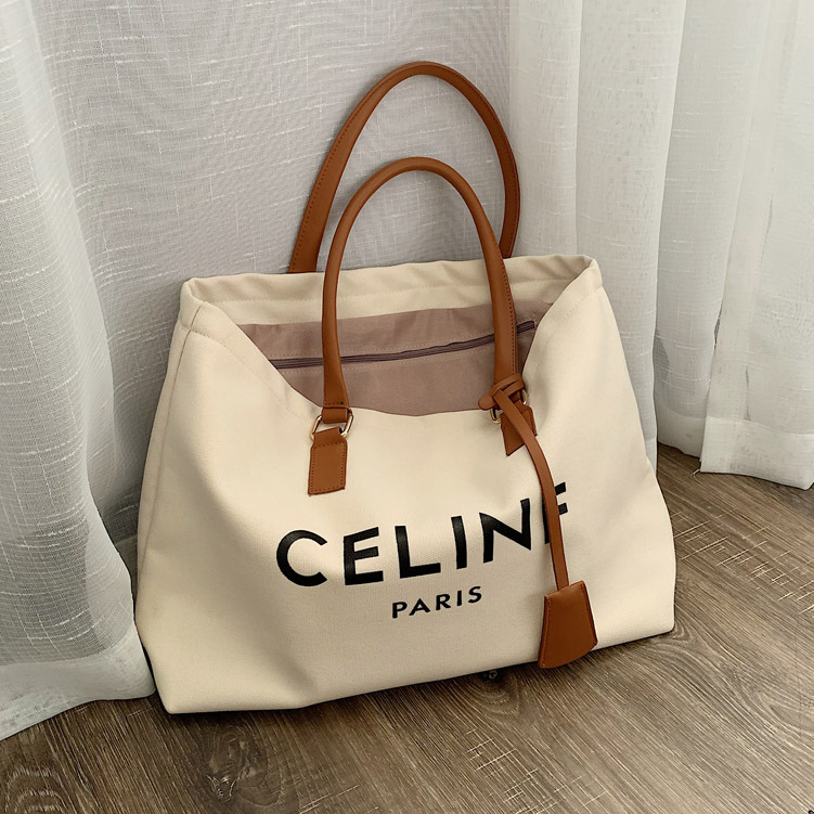 Commuting Shoulder Big Bag Women's 2019 New Style Casual Shopping Cloth Bag Simple Large Capacity Hand Toth Canvas Bag