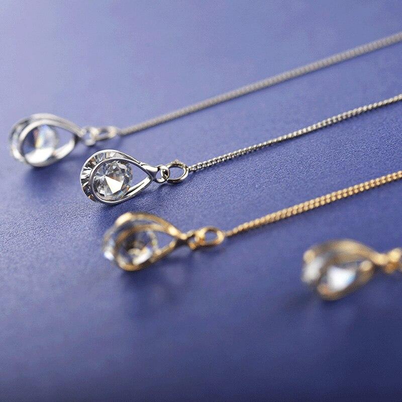 ZYZQ Fashion Rotatable Cubic Zirconia Dangle Earrings For Women Bohemia Long Chain Tassels Drop Earrings Jewelry Dropshipping