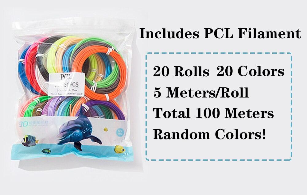 inclui 20 cores 100 metros 1.75mm pcl