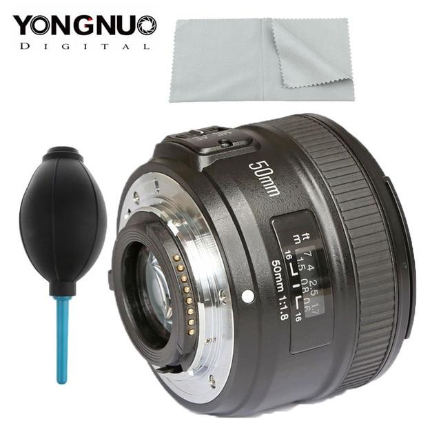 YONGNUO YN 50mm f1.8 AF เลนส์ YN50mm รูรับแสงอัตโนมัติขนาดใหญ่เลนส์สำหรับ Nikon D3000 D3100 D3200 D3300 D5000 DSLR กล้อง