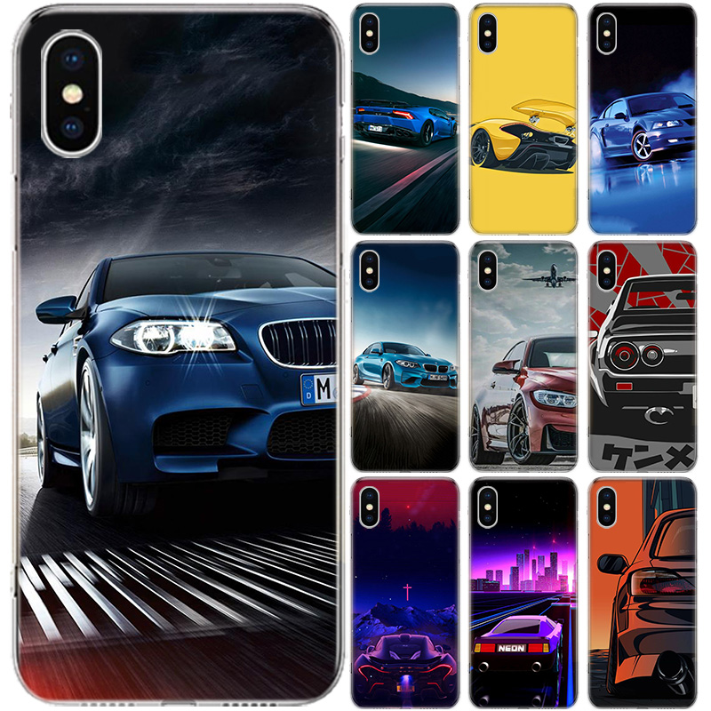 fashion bmw M3 For Apple iPhone 6 6s 7 8 Plus 11 Pro 10 X XS XR 6 6S 5 5S SE Max Soft Clear Silicone TPU Phone Case Cover image