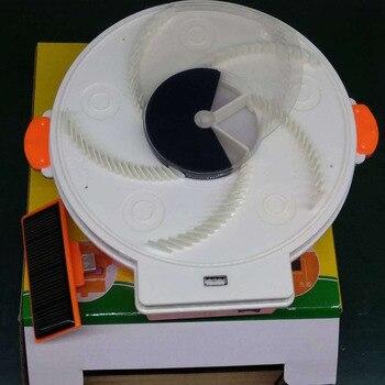 Trampa de mosca eléctrica alimentada por energía Solar caliente con atrapamiento de alimentos carga USB Flycatcher artefacto Catcher LSF