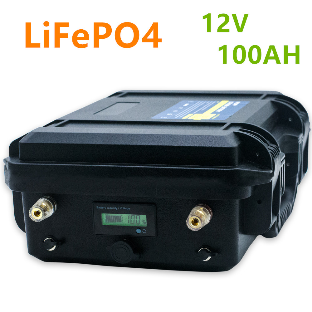 <font><b>12V</b></font> <font><b>100ah</b></font> <font><b>lifepo4</b></font> <font><b>battery</b></font> pack <font><b>lifepo4</b></font> <font><b>12V</b></font> <font><b>100AH</b></font> lithium ion <font><b>battery</b></font> pack built-in BMS for inverter, ship's electric motor,RV,b image