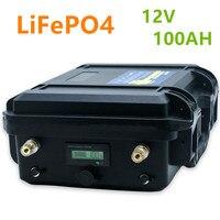 12v 100ah lifepo4 bloco de bateria lifepo4 12v 100ah bateria de íon de lítio embutido bms para inversor  motor elétrico do navio  rv  b