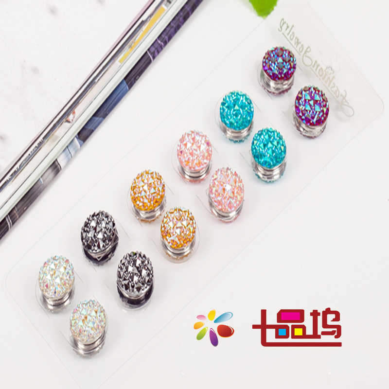 12pcs/dozen Nuovo fiore Elegante magnete spilla Classico fix pin accessori hijab musulmano sciarpa fibbia Spille Musulmani