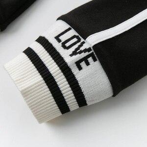Image 5 - Dbk12243 dave bella primavera crianças meninas moda carta listrado calças crianças boutique casual tornozelo comprimento calças