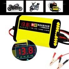 Chargeur intelligent pour batterie de moto et voiture, adaptateur de charge entièrement automatique, avec écran LCD 12V 2A AGM GEL plomb-acide 12V AC 110V 220V