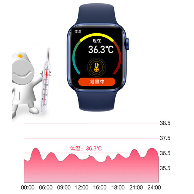 2021 Smart Watch  Sport Smartwatch Men Women Sleep Body Temperature Heart Rate Blood Pressure Monitor Watches For IOS Android 5