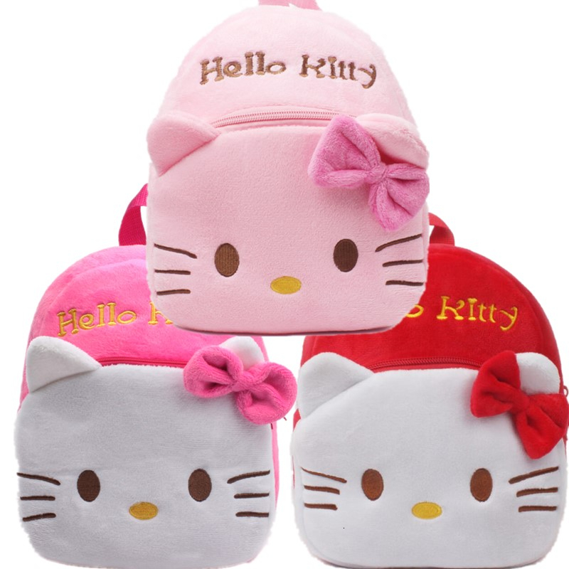 Hello Kitty Toddler Kids Children Cartoon Stuffed Plush Backpack Schoolbag Gift