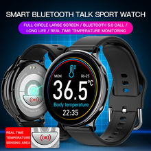 Ladies Smartwatch Bluetooth Body-Temperature Women Monitor Sports Android for IOS Full-Touch-Screen