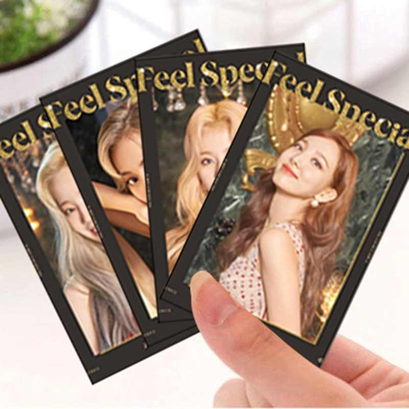 10 stks/set Koreaanse Populaire Tweemaal Lomo Foto Kaart Sticker Mode Album Voelen Speciale Fashion Sticky Photocard