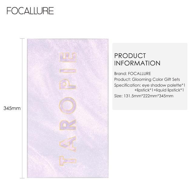 FOCALLURE 3 PCS Makeup Set Eyeshadow Palette Liquid Lipstick Matte Lipstick Cosmetic Kit For Fashion Women