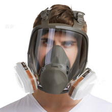 Anti-Fog Dustproof 6800 Full Face Gas Mask Industrial Painting Spraying Respirator Filter Safety Work Formaldehyde Protection